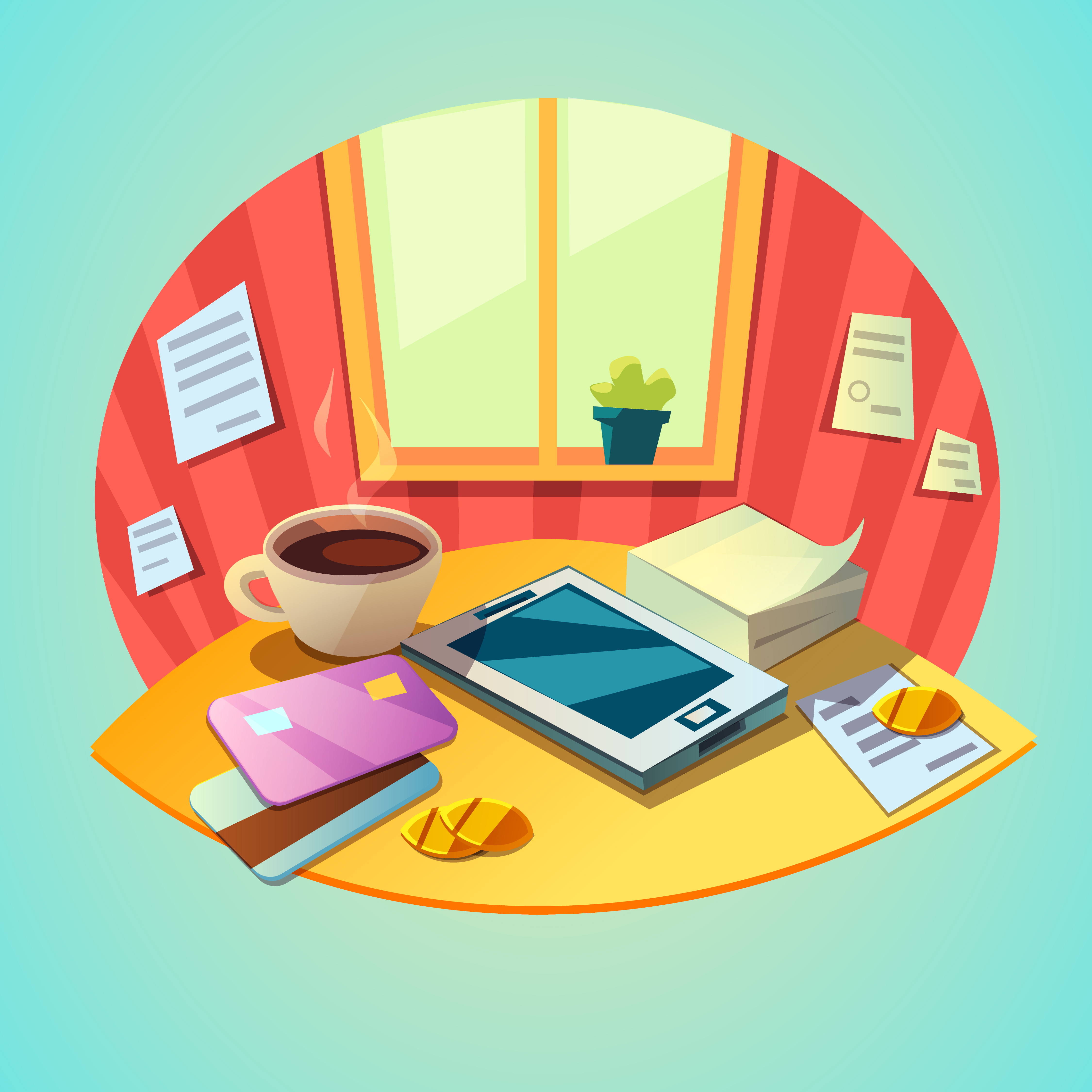 Business workplace concept - Download Free Vectors ...