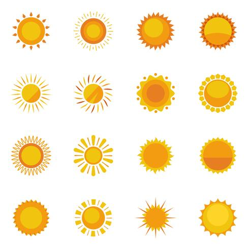 sol ikoner samling