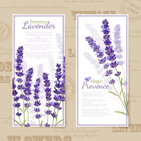 Lavender Flower Vertical Banners