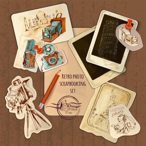 Scrapbooking Vintage Set vector