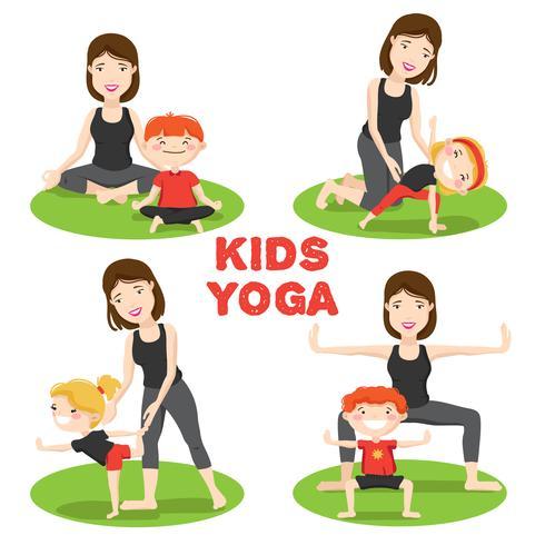 Mor Child Yoga 4 Ikoner Set