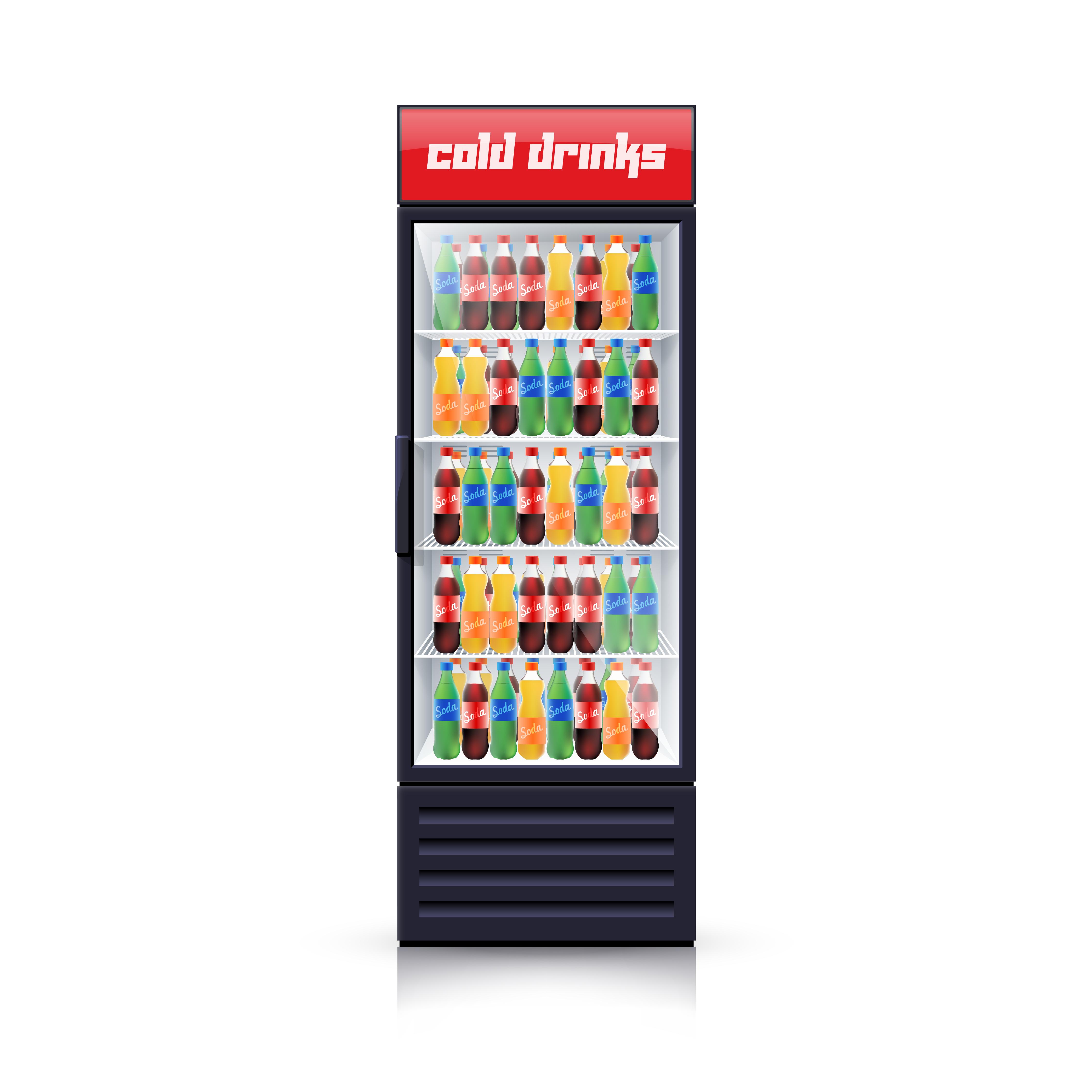 Cola Fridge Dispenser Realistic Illustration Icon Download Free Vectors Clipart Graphics
