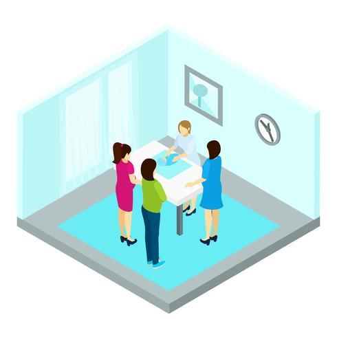 Illustrazione di gruppo gravidanza in formazione