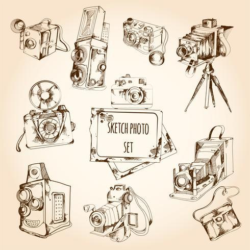 dibujo conjunto de fotos vector