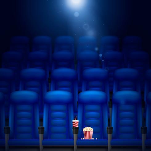 Empty Cinema Hall Illustration  vector