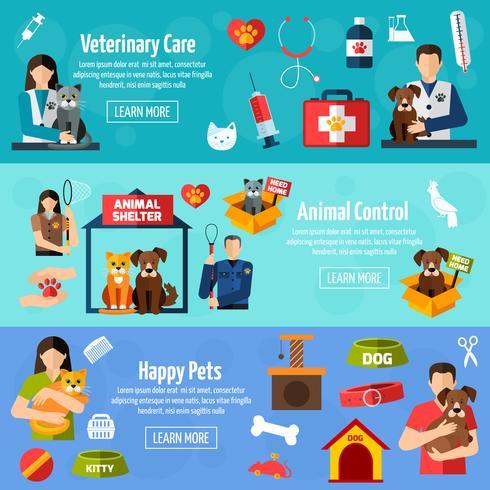 Animal shelter banner set