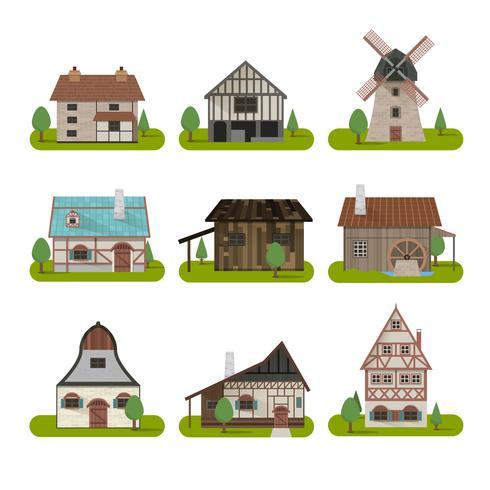 Medieval Ancient Buildings Set