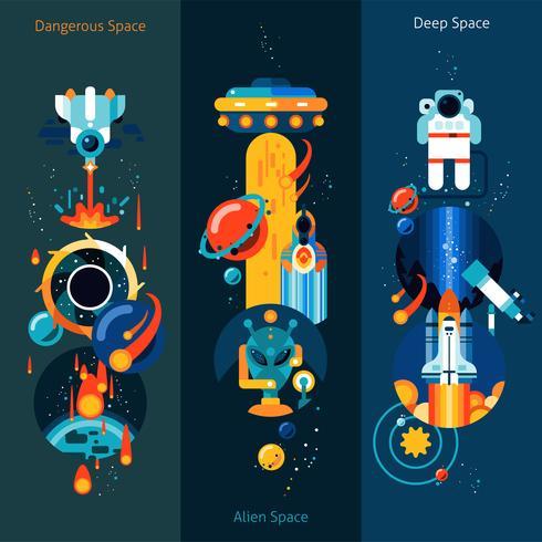 Conjunto de banner do espaço