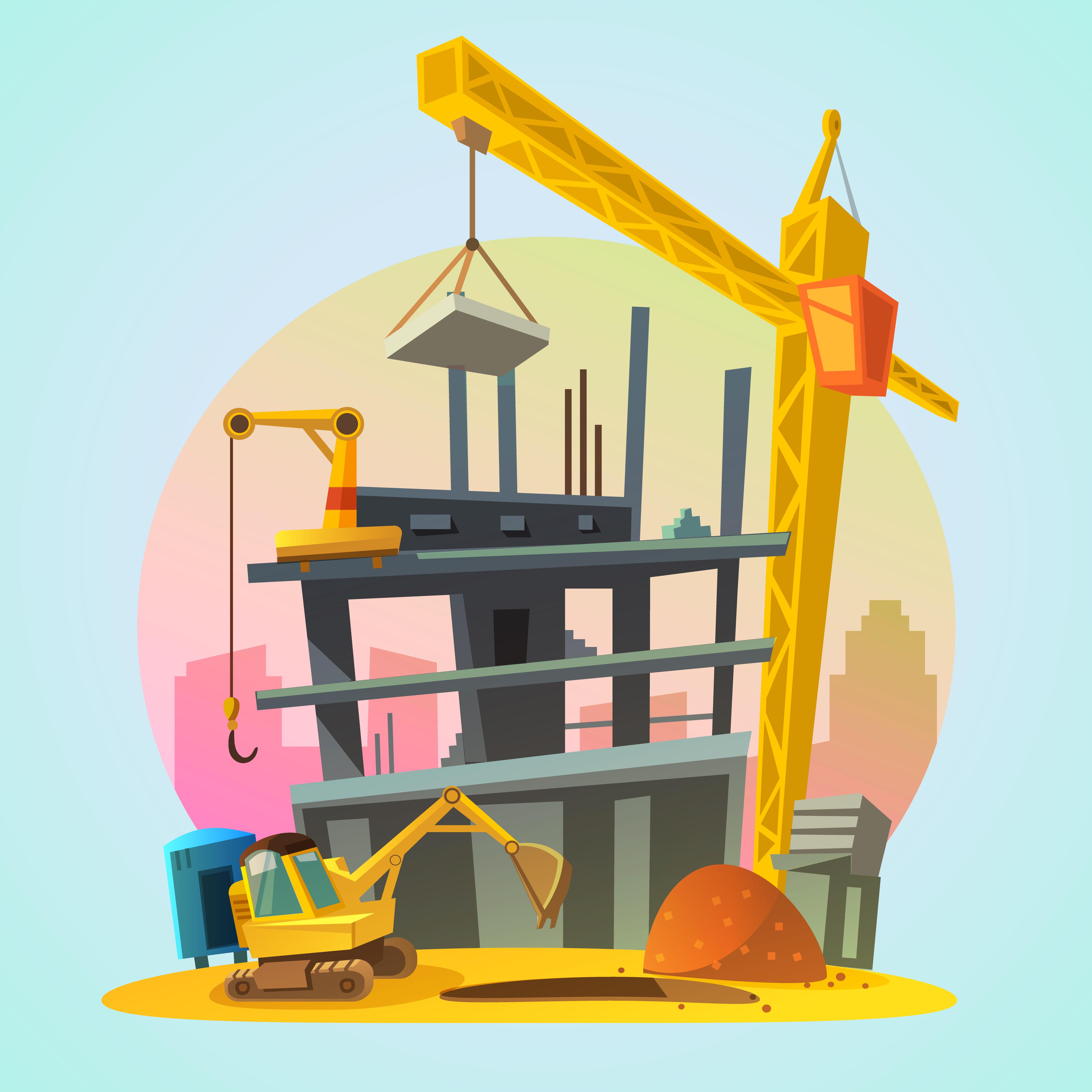 Картинки для детей строящийся дом
