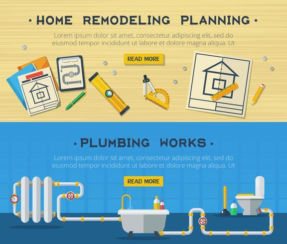 Home Repair 2 Flat Banners Set