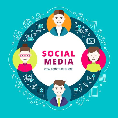 Social Media-Gruppe von Personen vektor