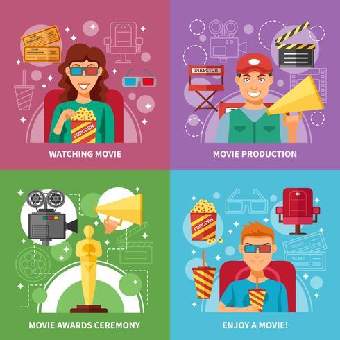 concetto di design del cinema 2x2