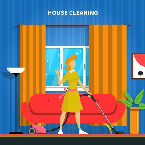 House Cleaning Background Illustration