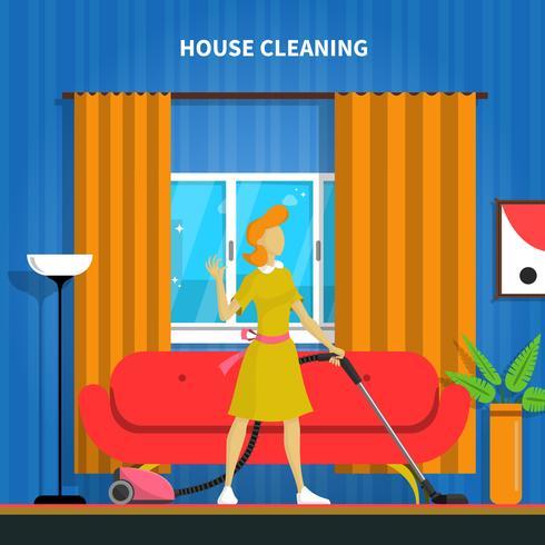 Illustration de fond de nettoyage de maison vecteur