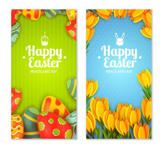 Set di banner di Pasqua