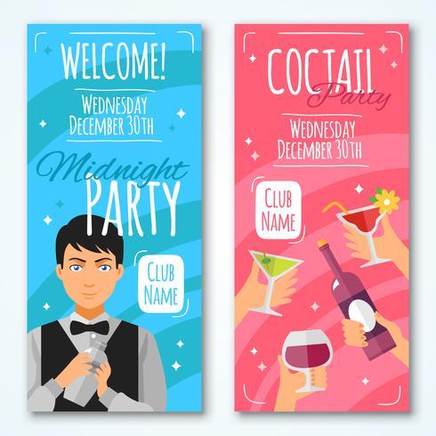 Conjunto de diseño de invitaciones de cóctel