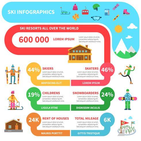Infografía de deportes de invierno.