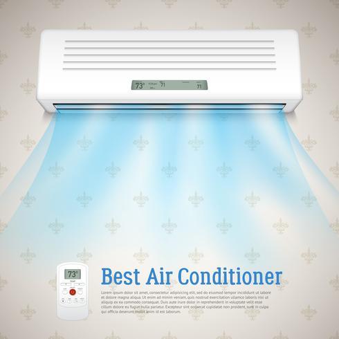 Migliore illustrazione del condizionatore d'aria vettore