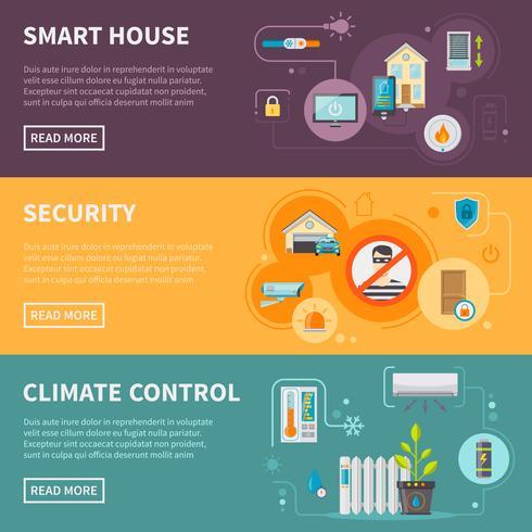 Set di banner orizzontali Smart House