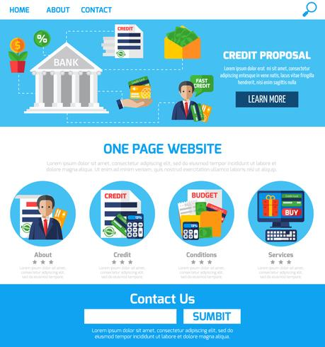 One Page Credit Proposals For Website