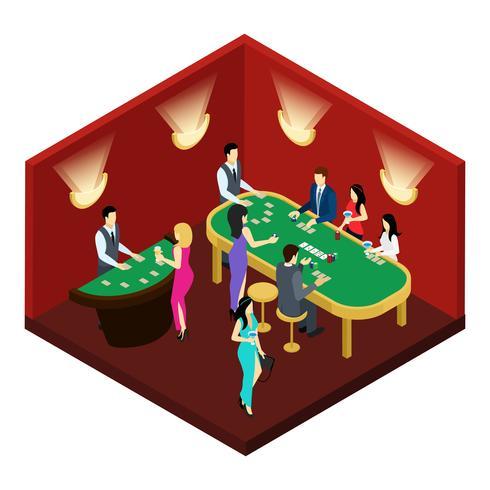 Poker isometrische illustratie