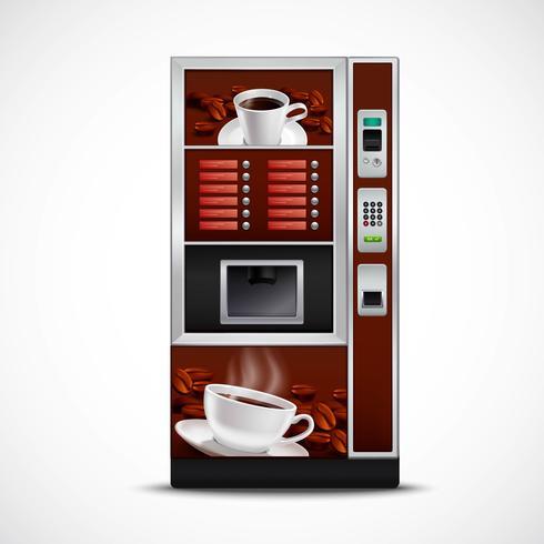 Distributeur automatique de café réaliste vecteur