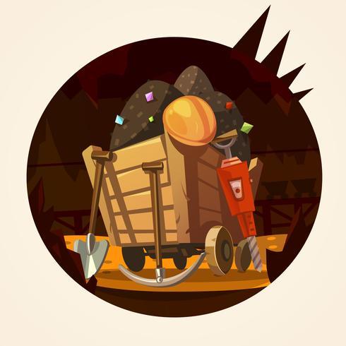 Illustration de dessin animé minier
