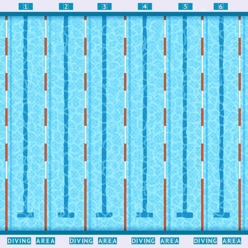Pictograma plana de vista superior de piscina