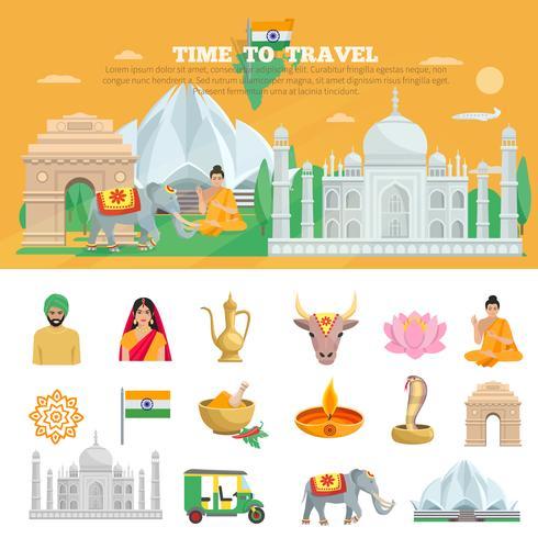 Conjunto de viagem da Índia