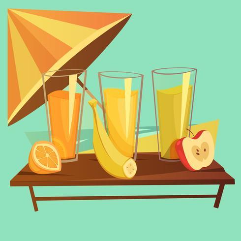 Conjunto de dibujos animados de bebidas saludables