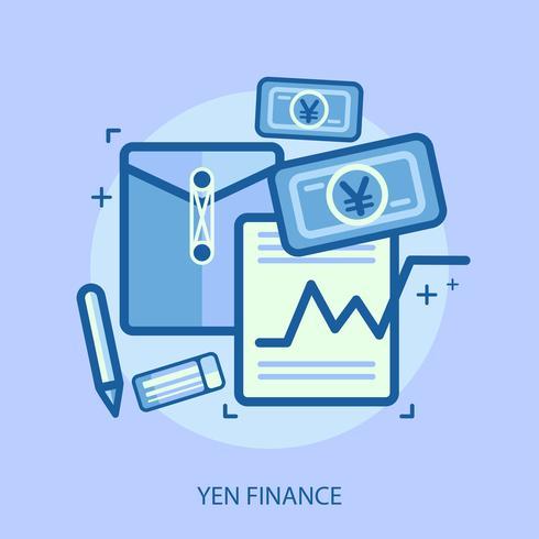 Yen Finance Conceptual illustration Design