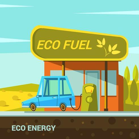 Ekologisk energi tecknad