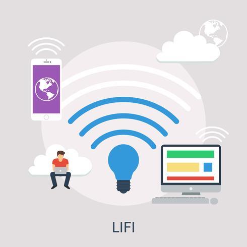 LIFI Conceptuele afbeelding ontwerp