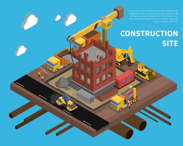 Ilustración del sitio de construcción