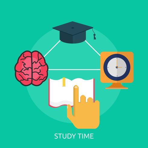 Study Time Conceptual illustration Design