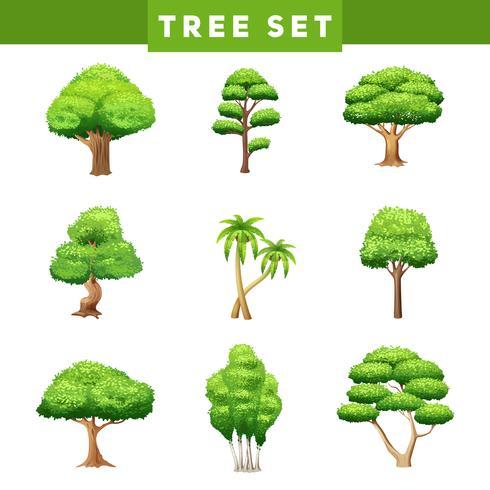 Strukturplattor i trädkronor