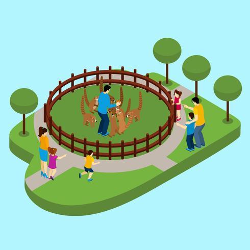 Contacta con Zoo Illustration vector