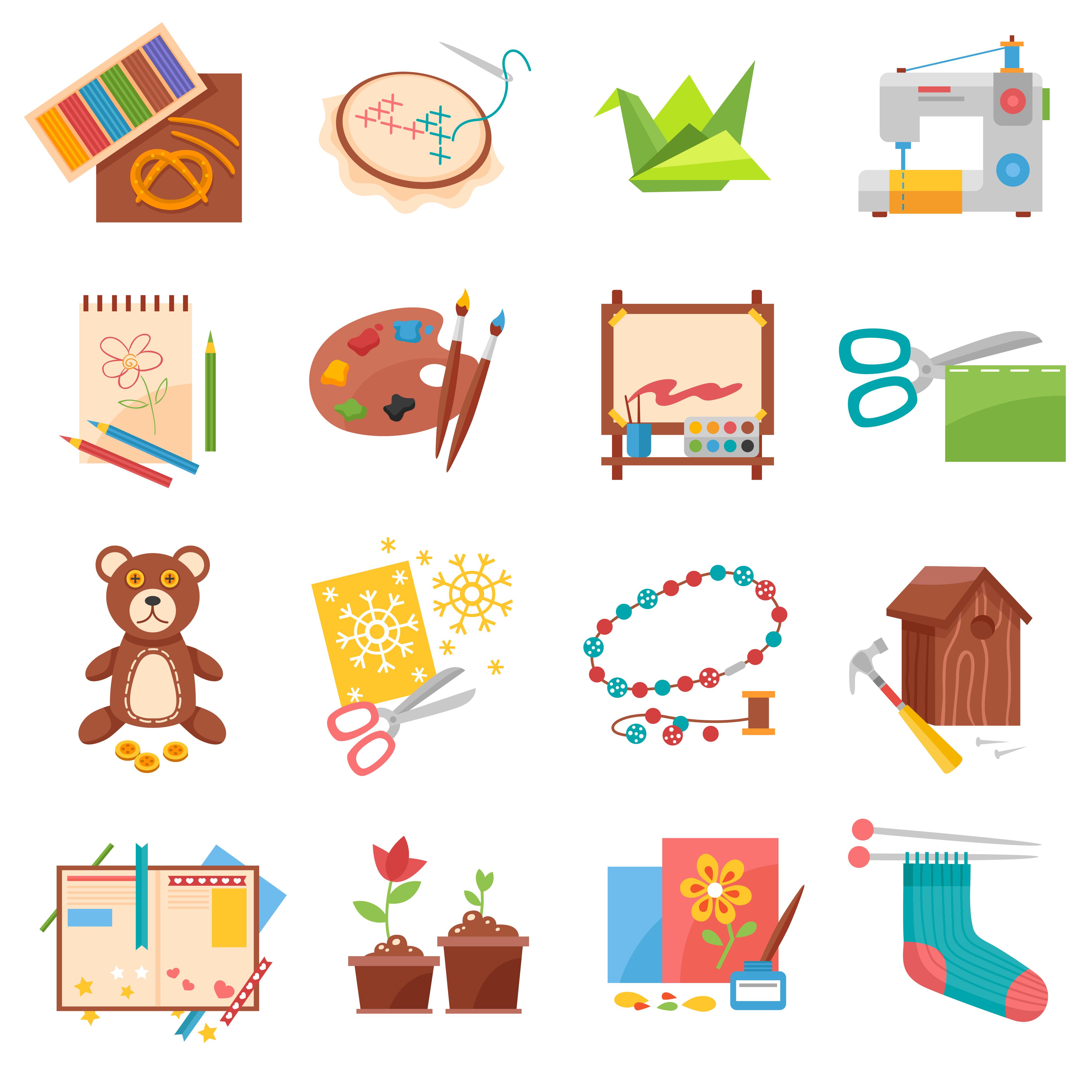Hobbies Icons Set Download Free Vectors Clipart Graphics Vector Art