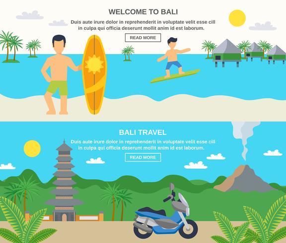 Bandiere di viaggio di Bali