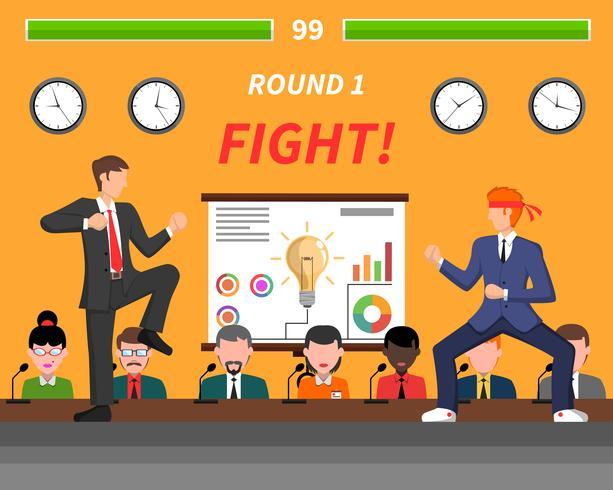 Geschäftswettbewerbs-Symbol-Kampf-Fahne