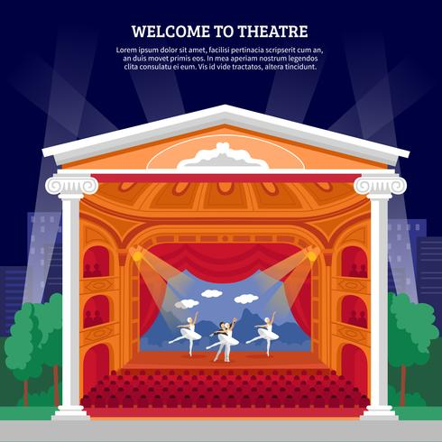 Theatre Performance Playbill Flat Colorful Print
