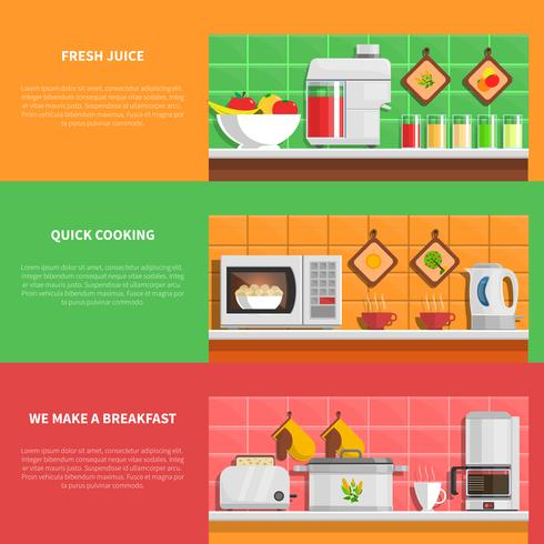 Household Appliances Banners Set  vector