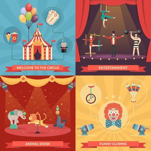 Cirkus Visa 2x2 Designkoncept vektor