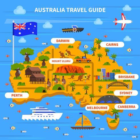 Ilustración de la guía de viajes de Australia vector