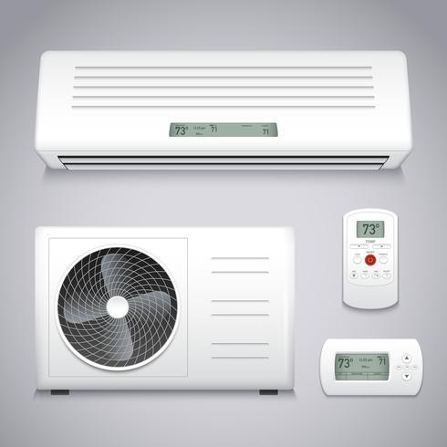 Set de aire acondicionado vector