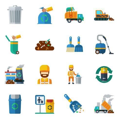 vuilnis recycling kleur pictogrammen