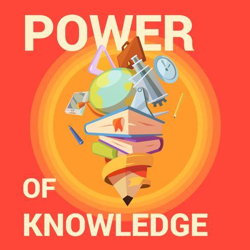 Education cartoon poster vector
