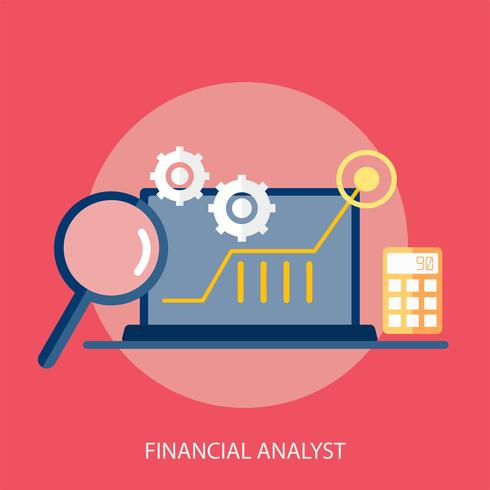 Financial Analyst Conceptual illustration Design vector