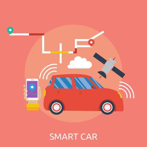 Smart Design concettuale illustrazione di auto