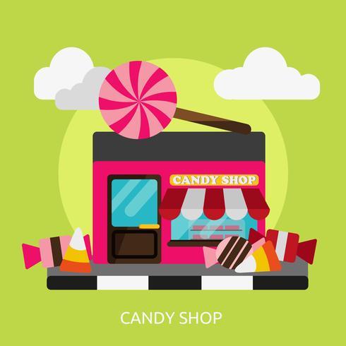 Süßigkeitengeschäft konzeptionelle Illustration Design
